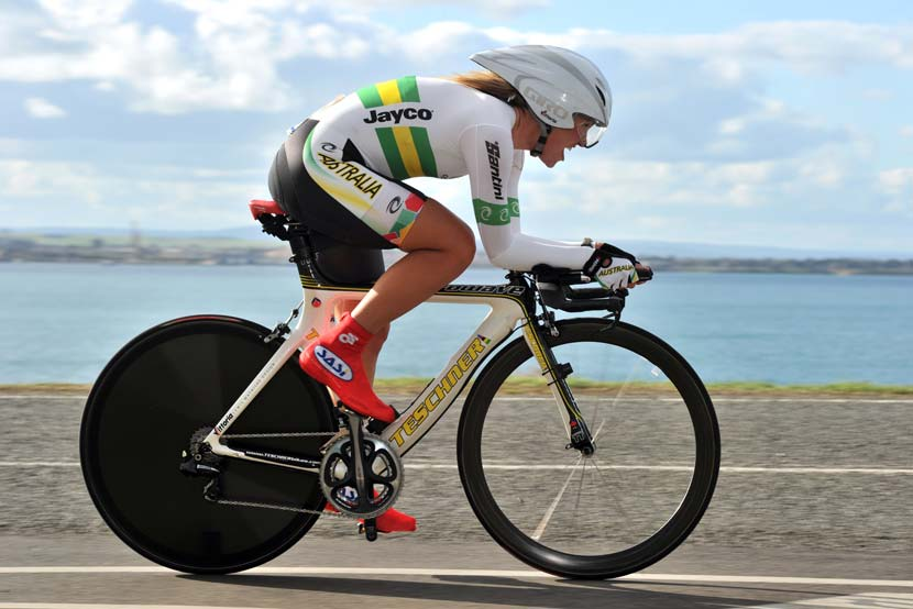 In action during the TT at the worlds in Geelong. Photo: Graham Watson