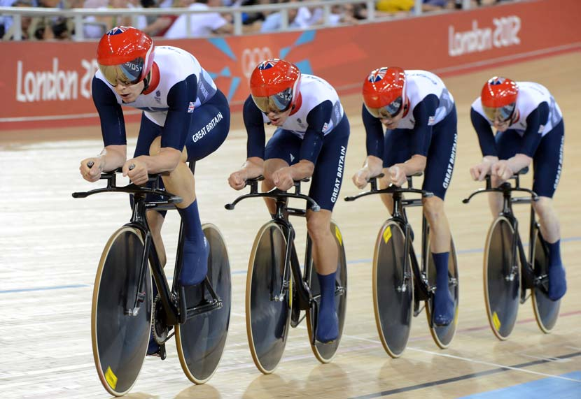 Team pursuit gold medallists, London Olympics. Photo: Graham Watson