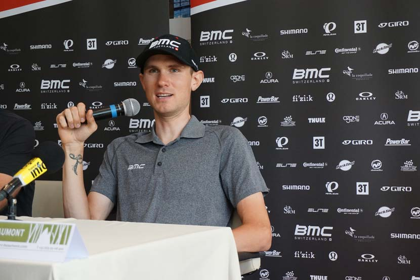 Tejay van Garderen on the rest day in Pau...  Photo: Rob Arnold