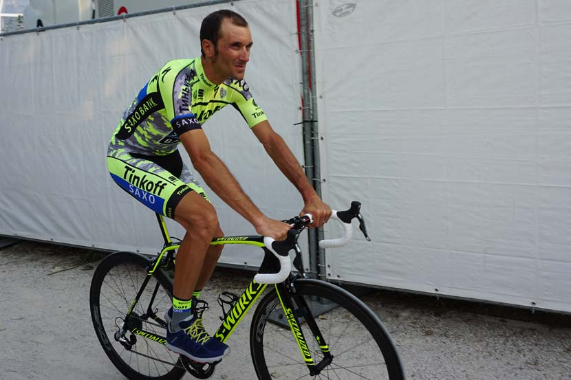 Ivan Basso was part of the Tinkoff-Saxo team at the 102nd Tour de France though to the first rest day but a diagnosis of testicular cancer forced him to leave and seek treatment immediately. Within two hours of telling team-mates his news, he was on his way back to Italy. Photo: Rob Arnold