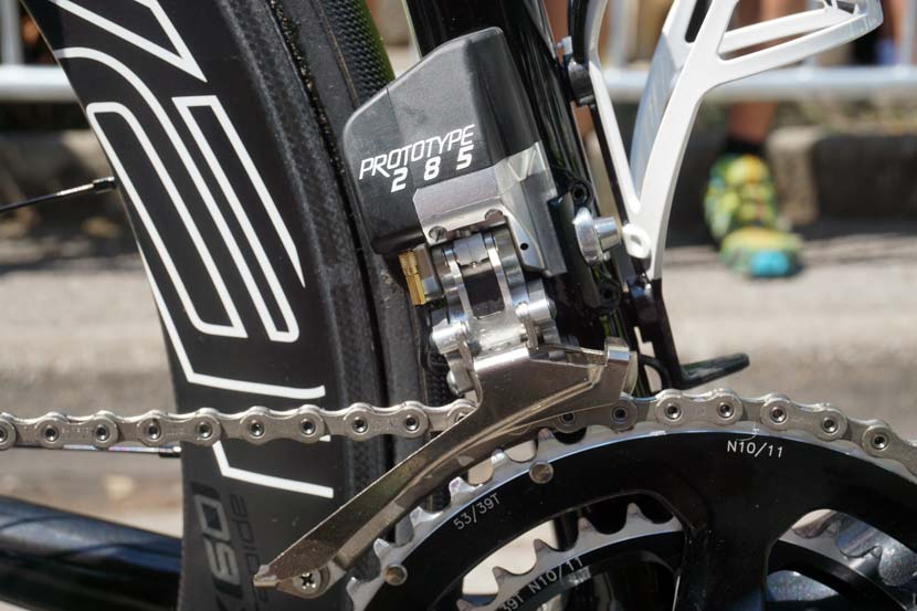 FSA's electronic shifting system.  Photo: Rob Arnold