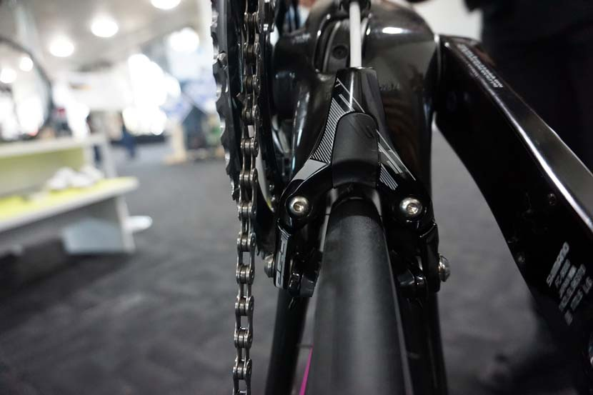 The FSA brake calipers mounted on the chain stays of some Avanti bikes has more to do with compliance of the frame than aerodynamics.