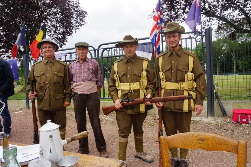 Residents of Veillrs-Bretonneux dressed up for the Tour's visit. Photo: Rob Arnold