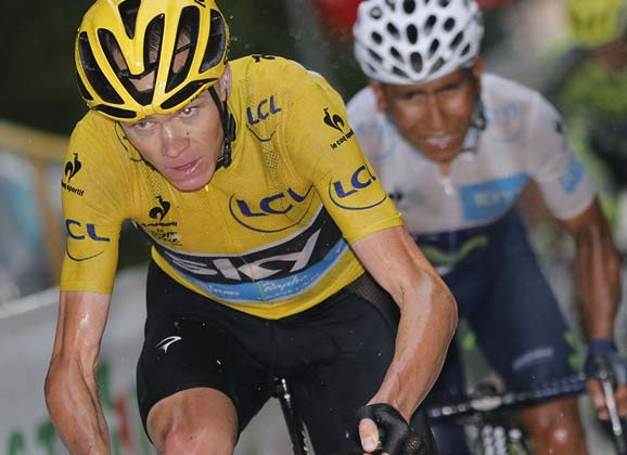 Froome: leading into stage 13