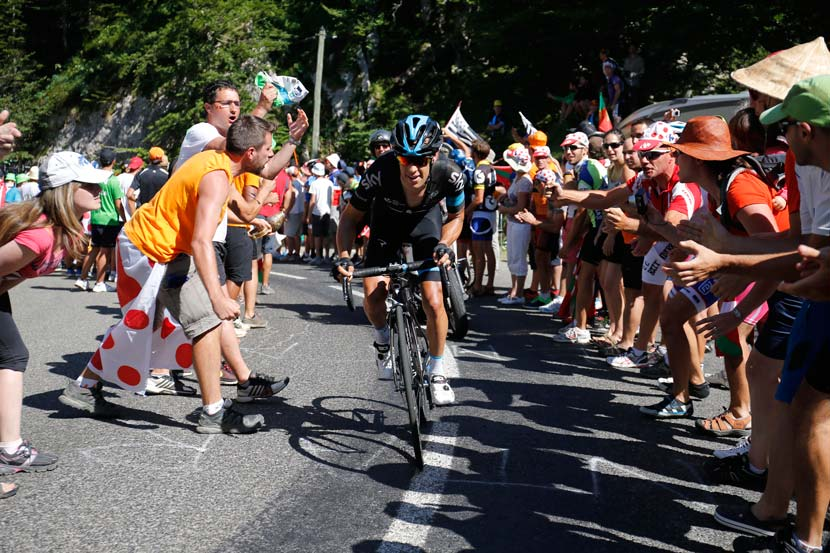 Richie Porte finished second behind Chris Froome in stage 10; he was the only rider inside a minute on the day of domination by Team Sky. Photo: Yuzuru Sunada