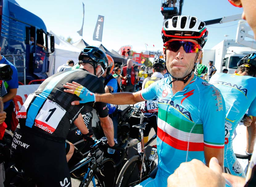 Vincenzo Nibali after stage two of the 2015 Vuelta a España. Photo: Graham Watson