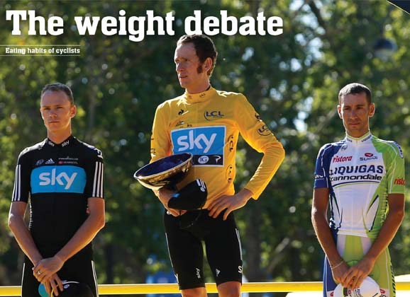 Eating habits of (pro) cyclists: the weight debate
