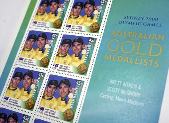 Cycling stamps: Australians at the Olympics