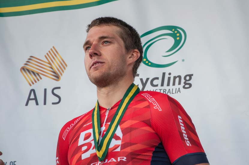 Brenton Jones: silver in the national criterium championships. Photo: Jean-Pierre Ronco