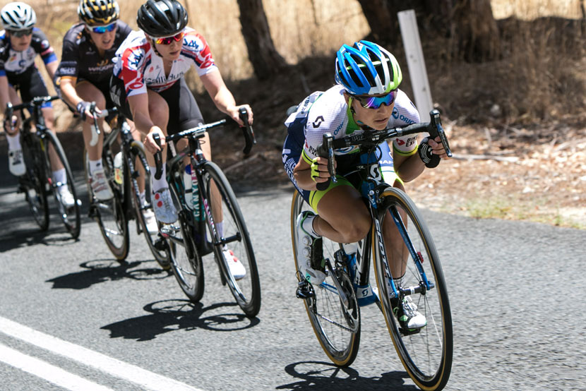 Stage one was a 95km road race on a circuit that started and finished in Mount Torrens.