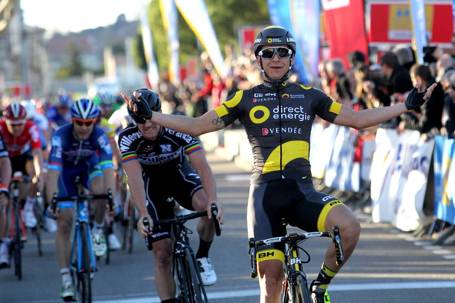 Bryan Coquard... first in stage one of what was once the 'season opening' stage race, Etoile de Besseges. Photo: Graham Watson
