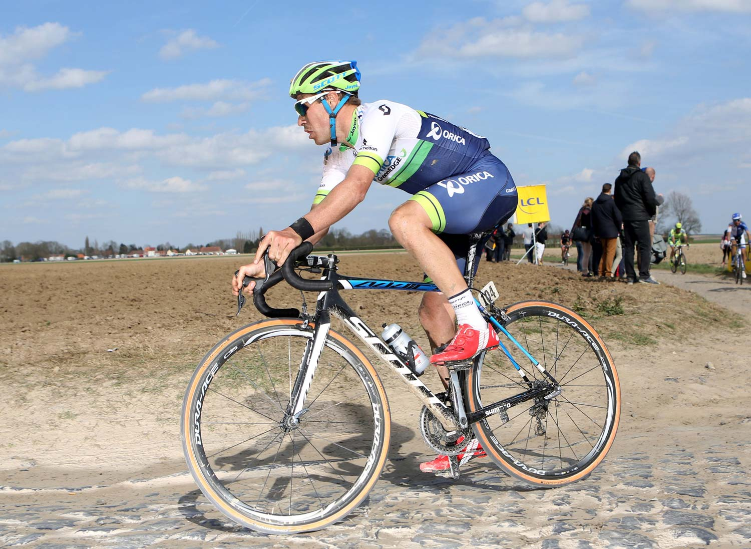 Docker during Paris-Roubaix, one of his favourite races, in 2015. Photo: Graham Watson