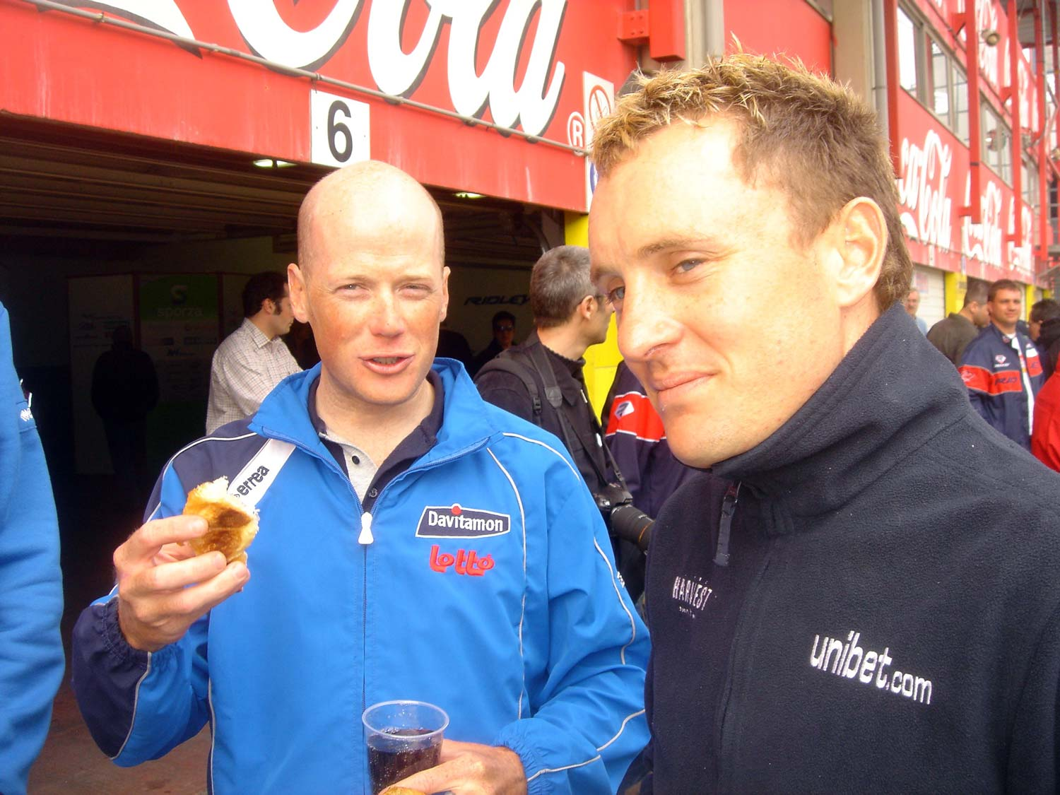 Chris Horner and Baden Cooke. April 2006. Photo: Rob Arnold