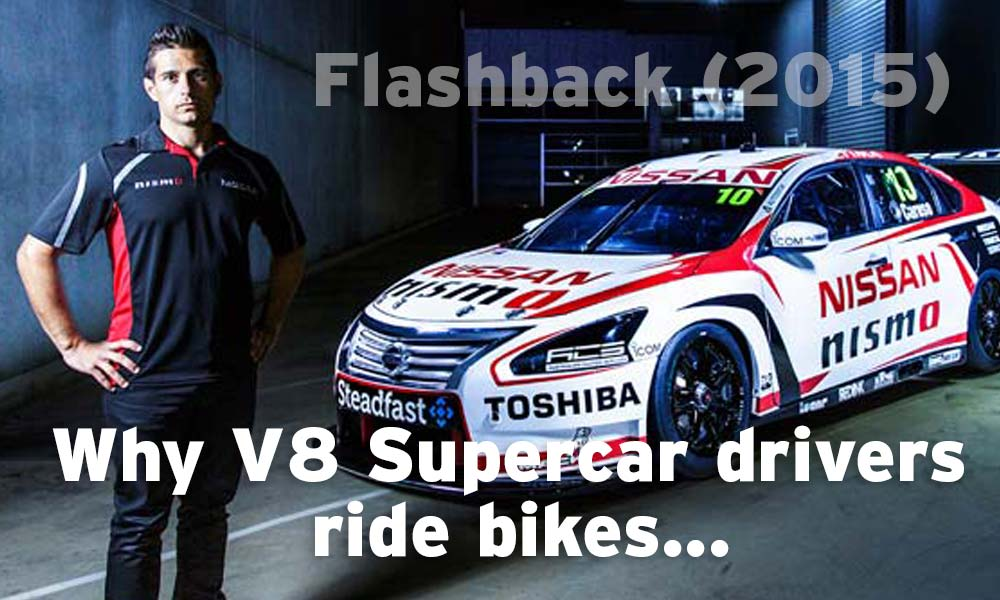 Cycling benefits for driving: V8 Supercars and bikes