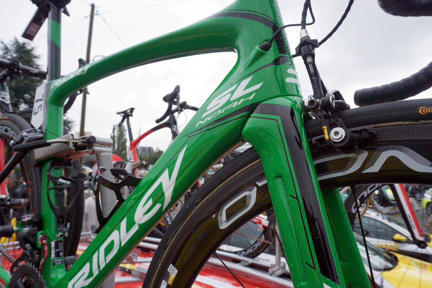 The Ridley Noah created for André Greipel for the days he spent racing in the green jersey at last year's Tour de France.