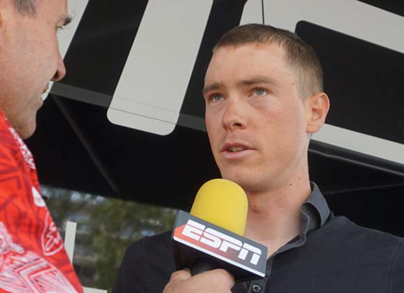Rohan Dennis considers the stage 13 time trial