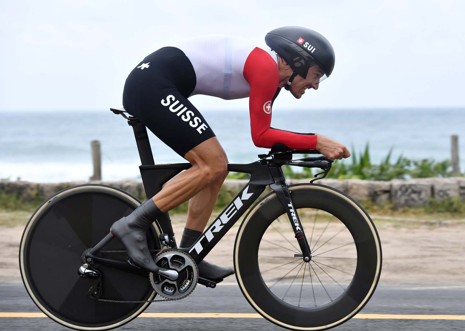 Gold medal... again! Cancellara earned the same result as in 2008: first place in the Olympic TT. His bike? Fairly standard Trek.  Photo: Graham Watson