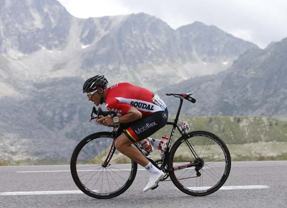 Adam Hansen on his 16th successive Grand Tour