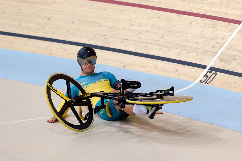 Matthew Glaetzer was one of several Australian cyclists to get fourth place in Rio... Photo: Yuzuru Sunada