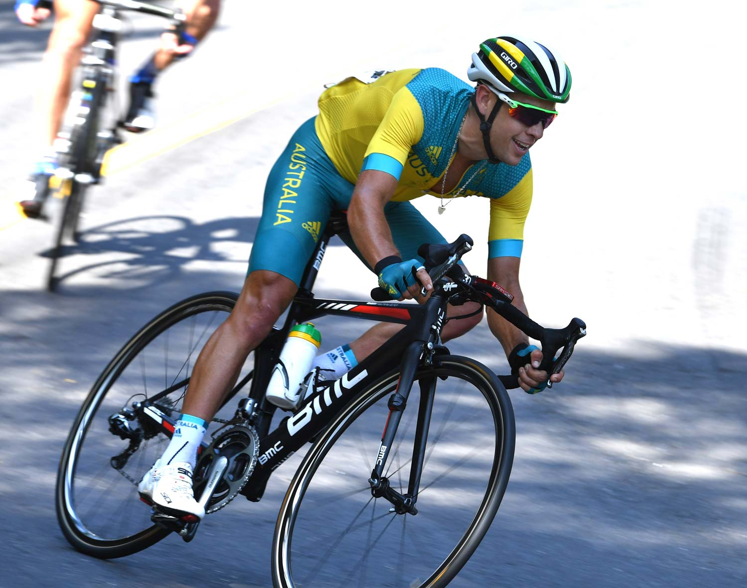 'National duties'... Richie Porte in the road race in Rio. Photo: Graham Watson