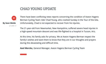 "Chad Young: a ""devastating and difficult time"""