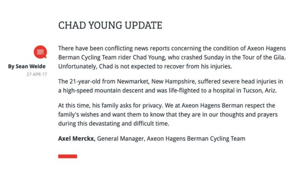 """Chad Young: a """"devastating and difficult time"""""""