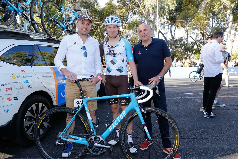 Baden Cooke, Jan Bakelants and Rob Gitelis. Photo: Yuzuru Sunada