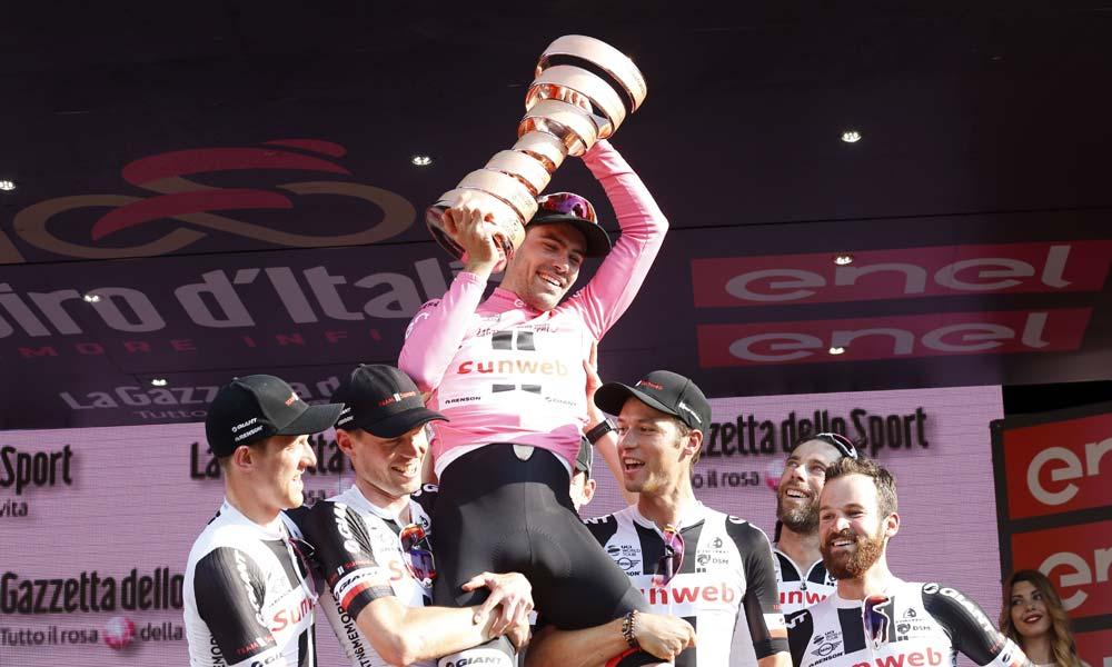 Talking about winning the Giro d'Italia