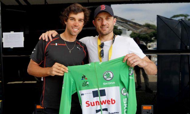 Michael Matthews – winning the green jersey
