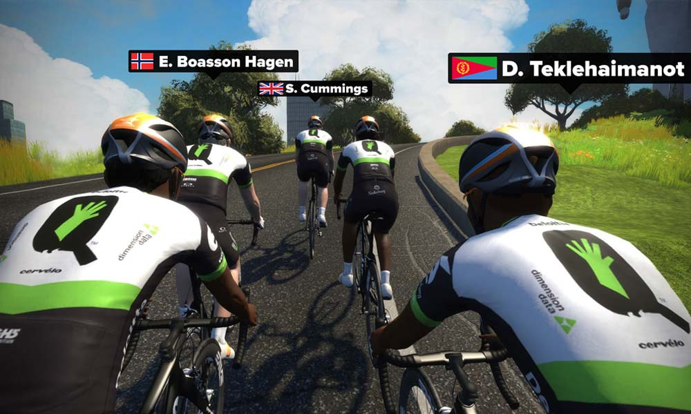 Into the final 10 from a global Zwift sift