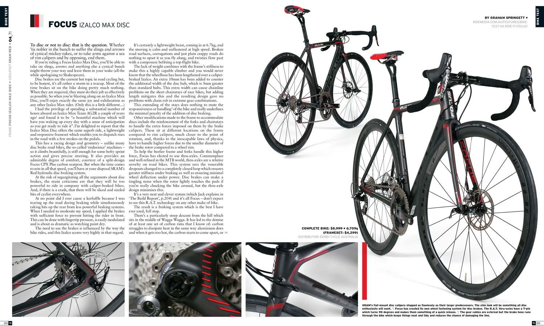 Bike Test: Focus Izalco Max Disc (2016) RIDE71 - Ride Media