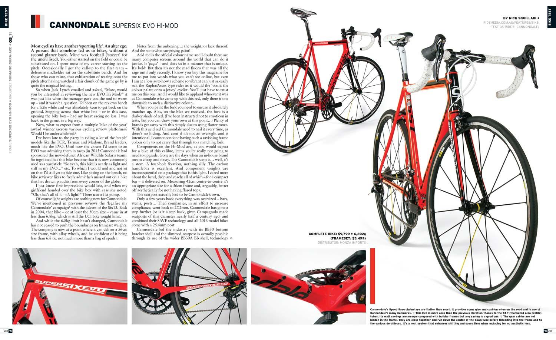 Bike Test: Cannondale SuperSix Evo Hi-Mod (2016) RIDE71 - Ride Media