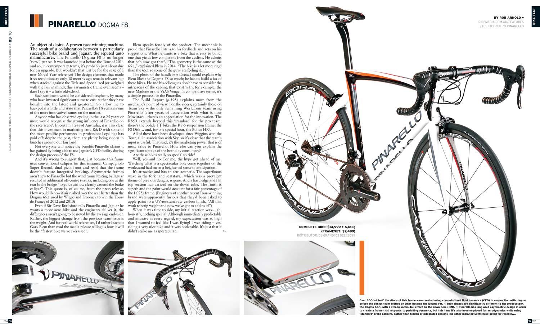 Bike Test: Pinarello Dogma F8 (2015) RIDE70 - Ride Media