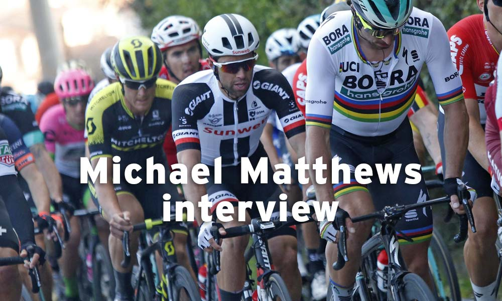 Interview – Michael Matthews, while out training