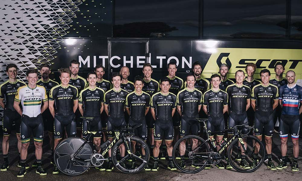 Mitchelton-Scott leads the WorldTour rankings