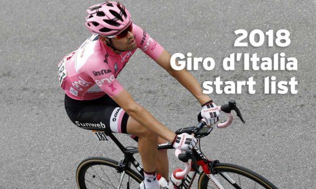 2018 Giro d'Italia: provisional start list