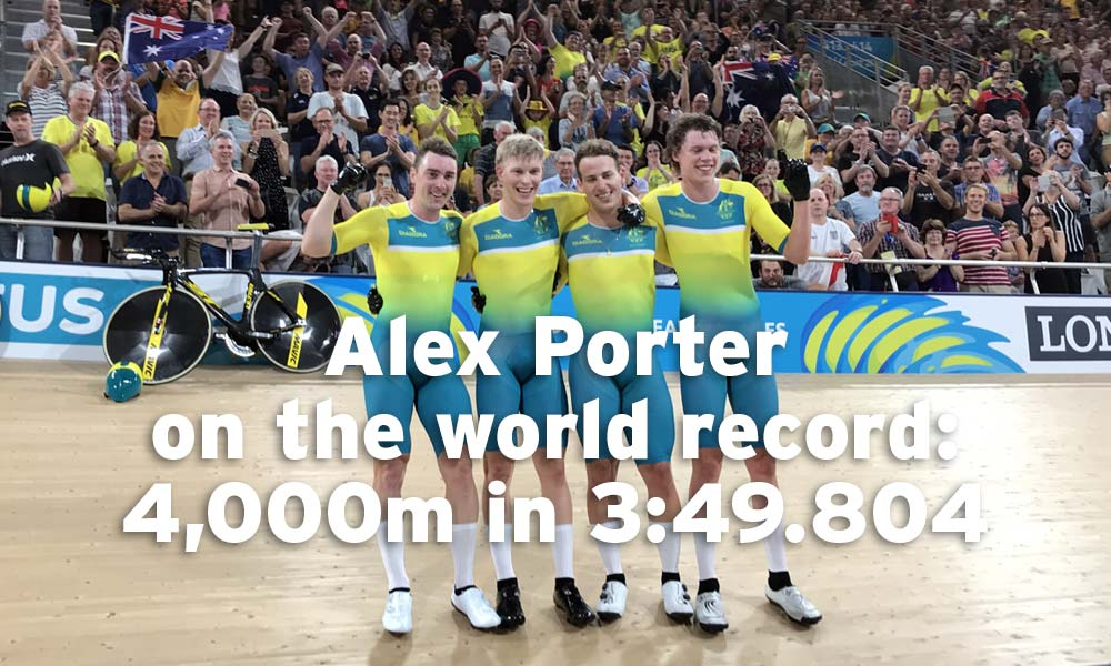 Interview: Alex Porter – breaking the team pursuit world record