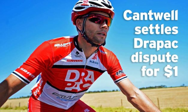 Cantwell settles Drapac dispute for $1