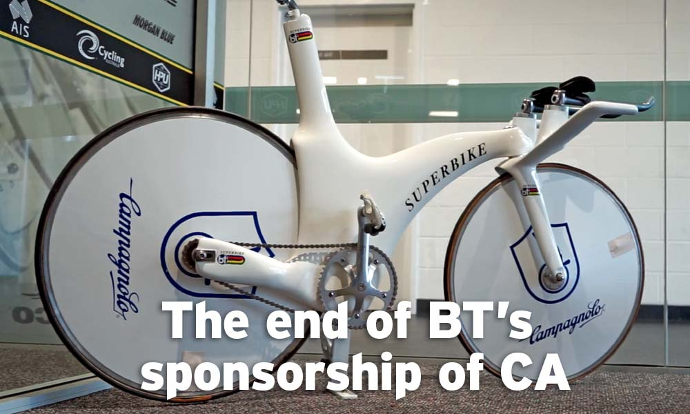 Cycling Australia ends relationship with BT bikes
