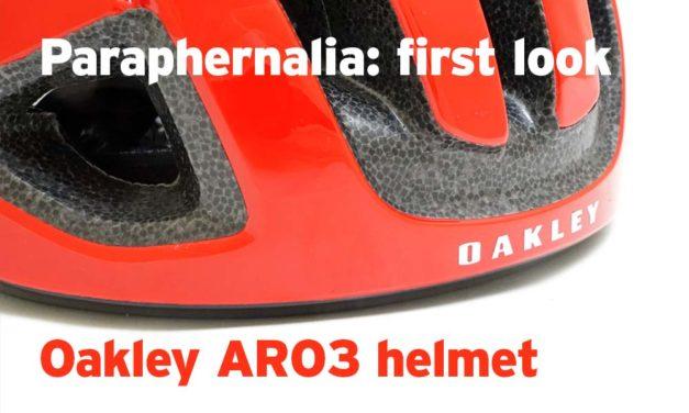 First look: Oakley ARO3 helmet
