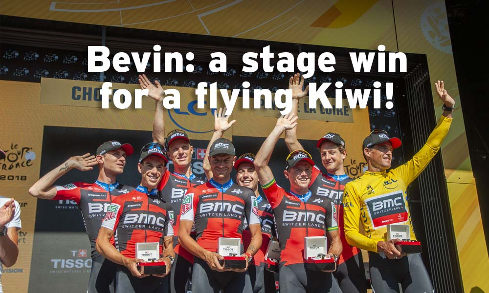 Bevin: New Zealander wins a Tour stage