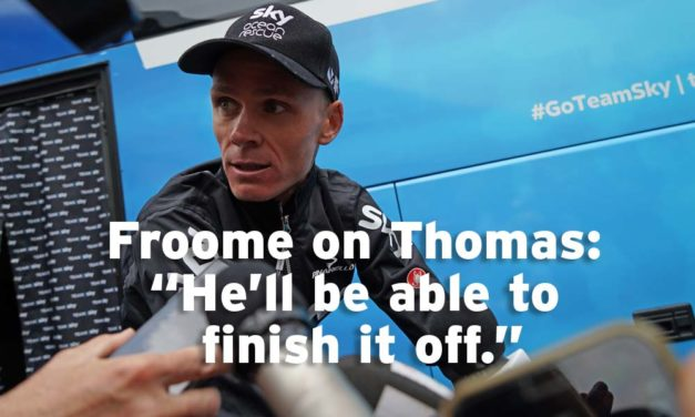 The abdication begins – Froome says G is Sky's leader