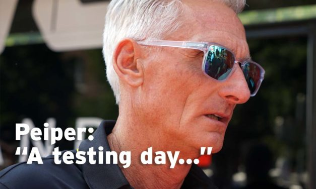 "Peiper on Porte: ""It's definitely been a testing day"""