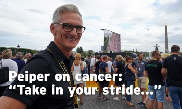 "Peiper on cancer: ""It's something you just take in your stride"""