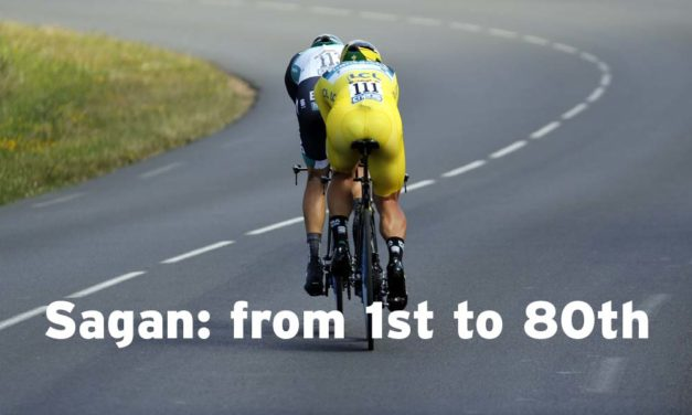 From 1st to 80th: Sagan out of yellow but in green