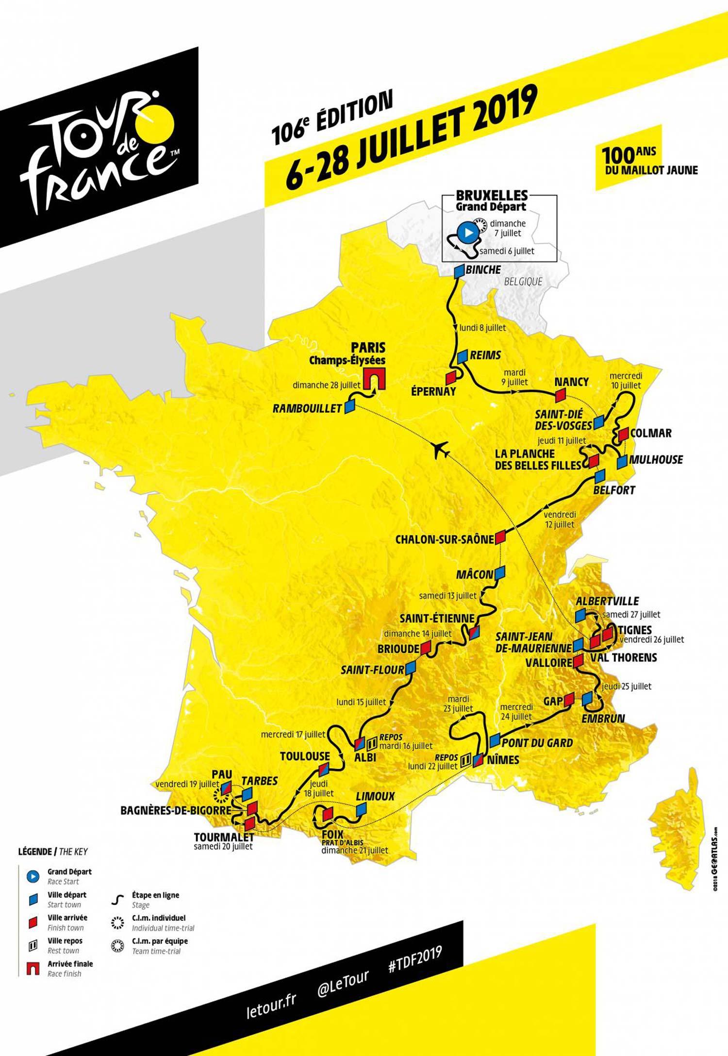 2019 Tour De France Race Route Unveiled Ride Media