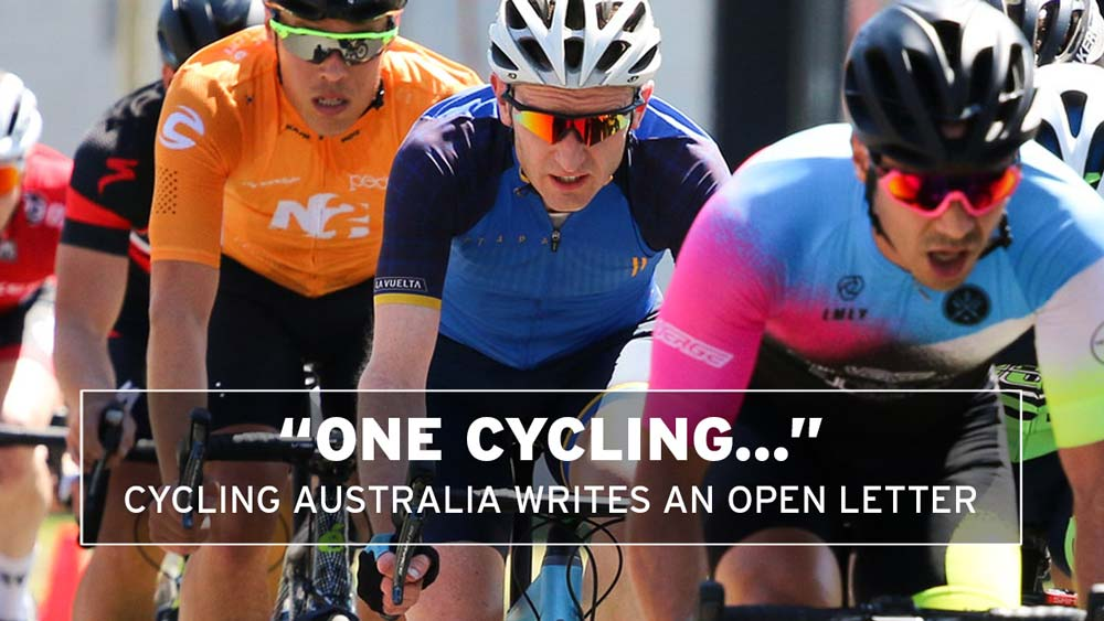 Cycling Australia: 'One Cycling' is the aim
