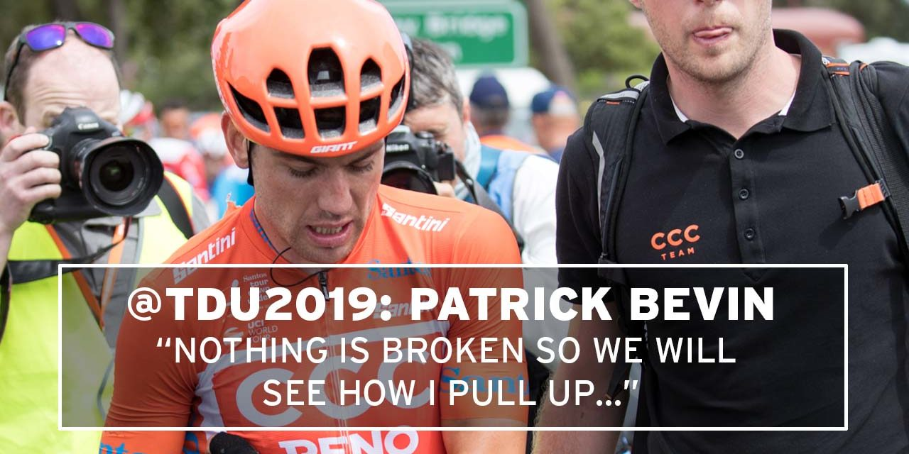 """Patrick Bevin: """"Nothing is broken so we will see how I pull up…"""""""