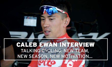 Talking cycling with Caleb Ewan