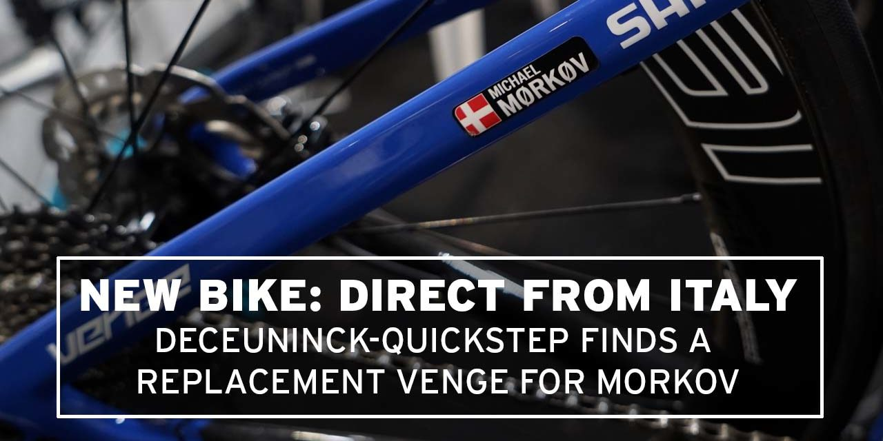 Morkov's replacement Specialized bike: no compromise from Deceuninck-Quickstep